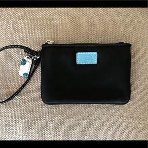 NWOT Coach black wristlet coin purse